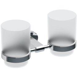 chrome kpl. kubków łazienkowych z uchwytem naściennym cr 220 chrom/szkło x07p189 marki Ravak