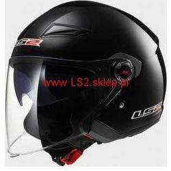 Kask LS2 TRACK Gloss black / czarny połysk - BLENDA ! (kask motocyklowy)