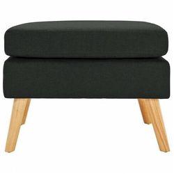 Czarna pufa podnóżek do salonu i sypialni - Elesar