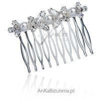 Biżuteria do włosów ślubna grzebień do włosów marki Anka biżuteria