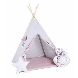 Zestaw, namiot tipi i kosz na zabawki - Cukrowy Sopelek