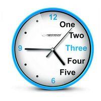 Esperanza  zegar ścienny prague niebieski darmowa dostawa do 400 salonów !! (5901299930007)