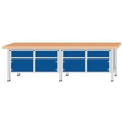 Stół warsztatowy, bardzo szeroki,8 szuflady