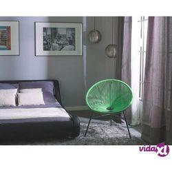 Beliani krzesło rattanowe zielone acapulco (7105278534448)