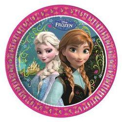 Talerzyki urodzinowe Frozen - Kraina Lodu - 23 cm - 8 szt. (5201184824993)