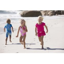 Strój jednoczęściowy kąpielowy Reima Sumatra UV różowy/wzór z kategorii Pozostałe sport i hobby