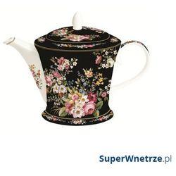 Nuova r2s Czajnik porcelanowy 1l blooming opulence czarny