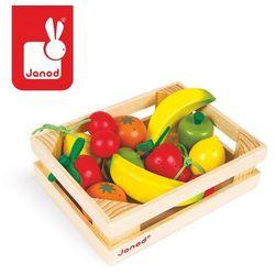 Janod Zestaw drewnianych owoców w skrzyneczce , kategoria: skrzynki i walizki narzędziowe