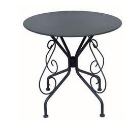 Stół ogrodowy guermantes z kutego żelaza – kolor antracytowy marki Vente-unique