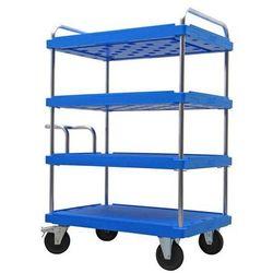 Wózek piętrowy do dużych obciążeń, dł. x szer. 1200x800 mm, nośność 500 kg, nieb marki A&a logistik-equipment