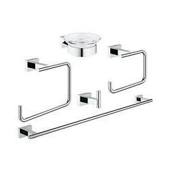 Grohe zestaw akcesoriów łazienkowych 5 w 1 Essentials Cube 40758001 - produkt z kategorii- Pozostałe artyku