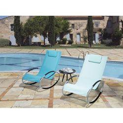 Krzesło ogrodowe miętowe tekstylne bujane campo marki Beliani