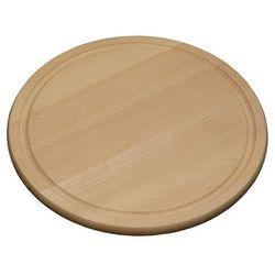Kesper Okrągła deska do krojenia z drewna bukowego, deska kuchenna, deska do serwowania, deska do mięs, talerz, akcesoria kuchenne, (4000270684425)