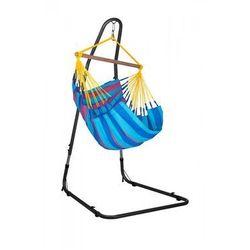 Zestaw hamakowy: fotel hamakowy sonrisa ze stojakiem mediterraneo, niebiesko-fioletowy snc14mea12 marki La siesta