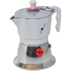 Kawiarka na indukcję  top 2 filiżanki - srebrno biała marki Top moka