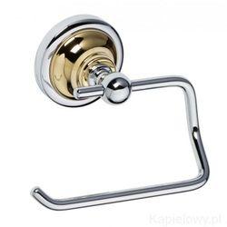 Retro wieszak na papier toaletowy chrom-złoto 144212028, marki Bemeta