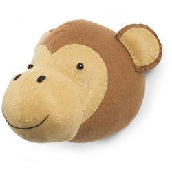 Childwood głowa małpki - dekoracja ścienna z filcu, brązowa, ccfmkh (5420007144852)