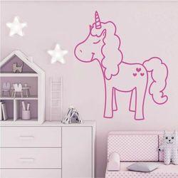 Szablon na ścianę dla dzieci jednorożec 2545 marki Wally - piękno dekoracji