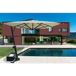 Parasol ogrodowy Giove Telescopic Alu 400cm x 400cm made in Italy