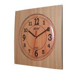Zegar ścienny kwadrat /buk, T1218BUK