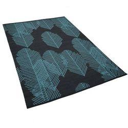 Beliani Dywan dwustronny 140 x 200 cm niebiesko-czarny mezra (4251682211345)