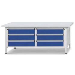Stół warsztatowy z szufladami xl/xxl,szer. 2000 mm, 6 szuflad 180 mm marki Anke werkbänke - anton kessel