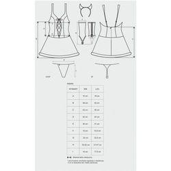 Diabella kostium 4-częściowy s/m od producenta Obsessive (pol)