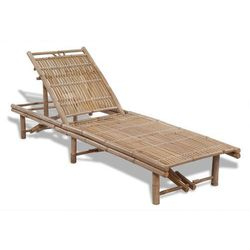 Vidaxl regulowany leżak bambusowy (8718475909163)