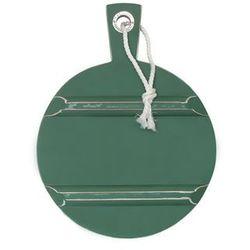 okrągła deska drewniana s zielona hap6165 marki Hk living