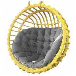 Żółty fotel wiszący na taras z szarym siedziskiem - petro 2x marki Producent: elior