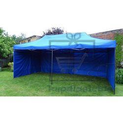 Ogrodowy namiot party DELUXE nożycowy + ściany boczne - 3 x 6 m niebieski