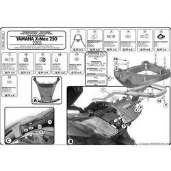 Kappa KR355 Stelaż Kufra Centralnego Yamaha X-MAX 250 (05 > 09) (stelaż motocyklowy)