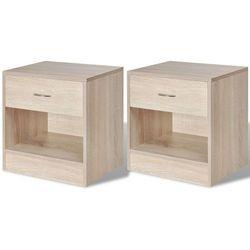 2 szafki nocne z szufladą w kolorze dębu marki Vidaxl