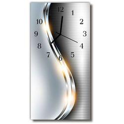 Zegar szklany pionowy nowoczesny metal metalowy srebrny marki Tulup.pl