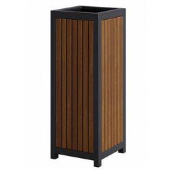 Drewniany ogrodowy kosz na śmieci w odcieniu tik - lins marki Producent: elior