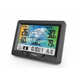Stacja pogody bezprzewodowa gb540 kolorowa z systemem dcf fazy księżyca, barometr, kalendarz marki Greenblue