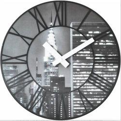 Nextime :: zegar ścienny the city czarny Ø39cm - czarny