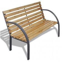 Drewniana ławka ogrodowa Gasper - brązowa, vidaxl_41014