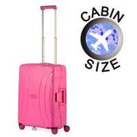 American tourister by samsonite Mała walizka american tourister 06g lock'n'roll różowa - różowy