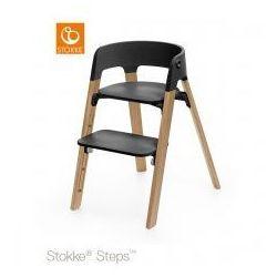 Krzesełko STOKKE® STEPS™ black/ oak natural