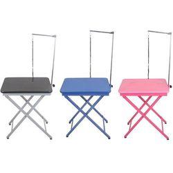 - lekki, składany stół, stolik wystawowy z wysięgnikiem w komplecie, blat 60x45 cm, wys. 71 lub 81 cm marki Shernbao