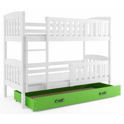 Dziecięce łóżko piętrowe z zieloną szufladą 80x190 - Elize 2X, 20219011205801100003519141