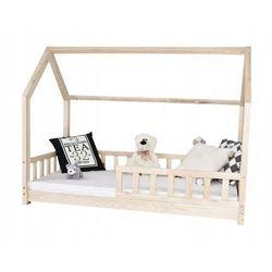 Łóżko dziecięce DOMEK materac 190x80+BARIERKI
