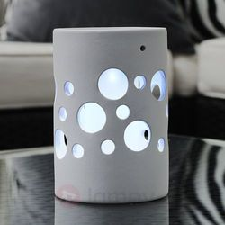 NEW GENOVA dekoracyjna lampa solarna LED, biała, Genova Cylinder