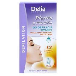 Delia cosmetics  depilation facial plastry z woskiem do depilacji twarzy, kategoria: plastry do depilacji