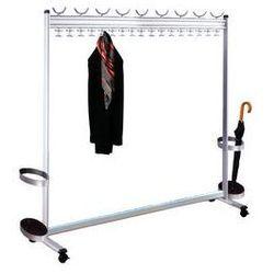 Szeregowy stojak na ubrania, wys. x gł. 1700 x 400 mm,ze stojakiem na parasole marki Unbekannt