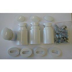 Grzejnik łazienkowy york - wykończenie proste, 500x800, biały/ral