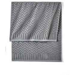 Ręczniki w wypukły wzór szary marki Bonprix