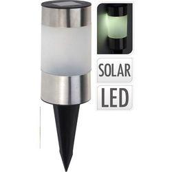 Lampa solarna stalowa 6x24cm LED
