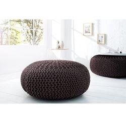 INTERIOR SPACE:: Puf Knitted Ball - ciemnobrązowy?80cm - ciemno brązowy, kolor brązowy